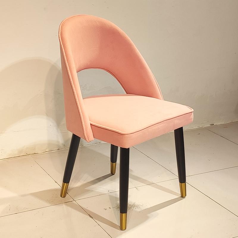 现代简约 家用餐厅酒店会所样板房售楼处 洽谈椅 实木布艺皮革休闲椅