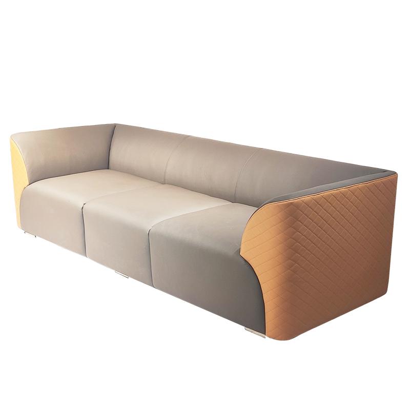意式轻奢 真皮沙发 简约现代客厅酒店样板房三人位别墅港式 沙发