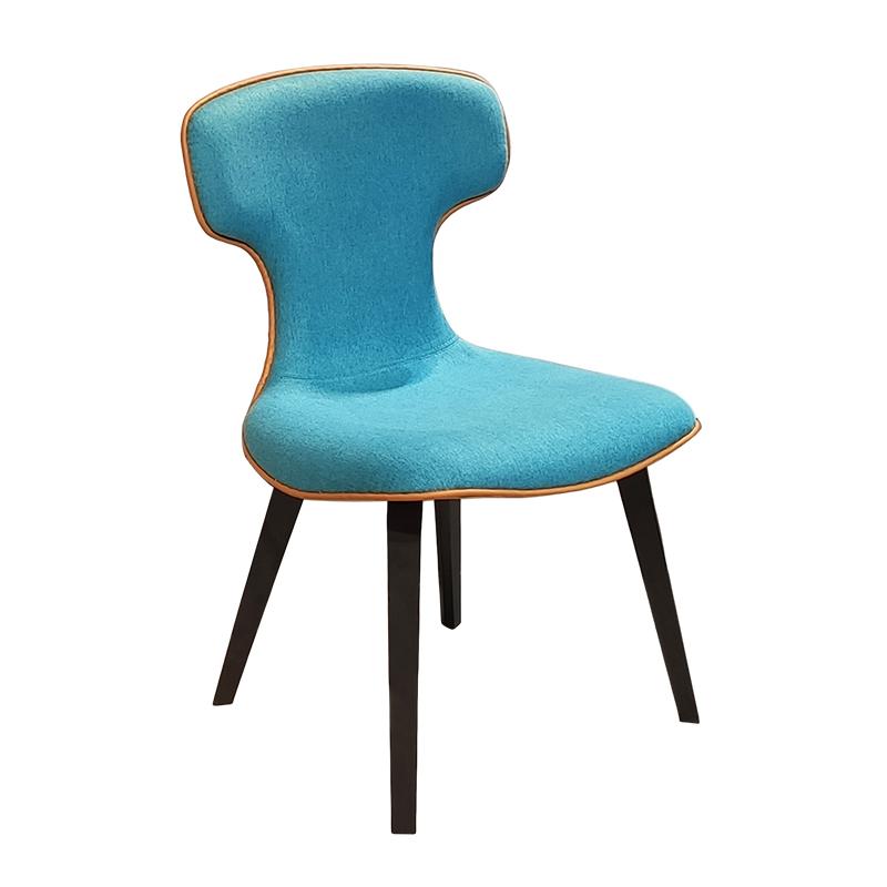 罗伯托设计师蒙特拉椅时尚前沿 皮质创意书椅电脑椅 布艺双色餐椅