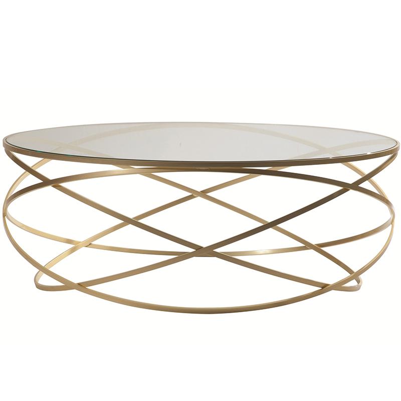 EVOL 北欧轻奢不锈钢 个性金属茶几 现代简约样板间别墅公寓 钢化玻璃 大理石咖啡桌