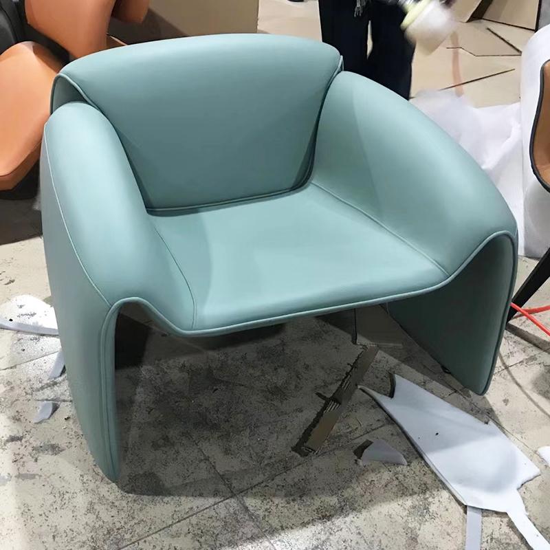 Poliform款 设计师休闲椅 现代简约 LE CLUB Sofa chair 意式玻璃钢沙发椅 餐椅