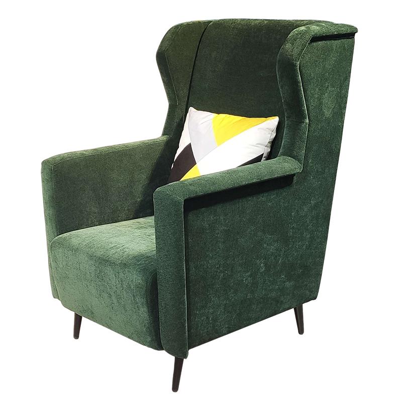 现代简约 美式 实木定制 布艺皮革 休闲椅 客厅商务酒店 单人沙发