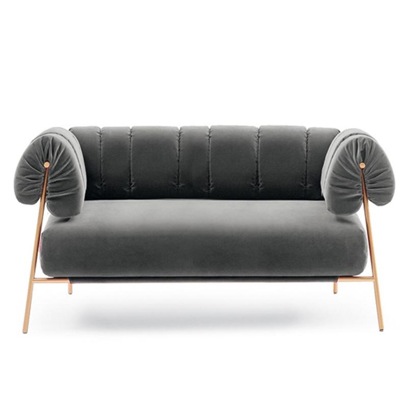 后现代简约轻奢不锈钢 Bonaldo TIRELLA 双人沙发 客厅酒店会所样板房 休闲椅 