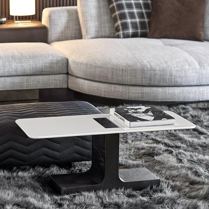 Minotti 意式 米诺提  BLOCK 客厅酒店样板房 设计师 现代简约轻奢不锈钢 大理石茶几