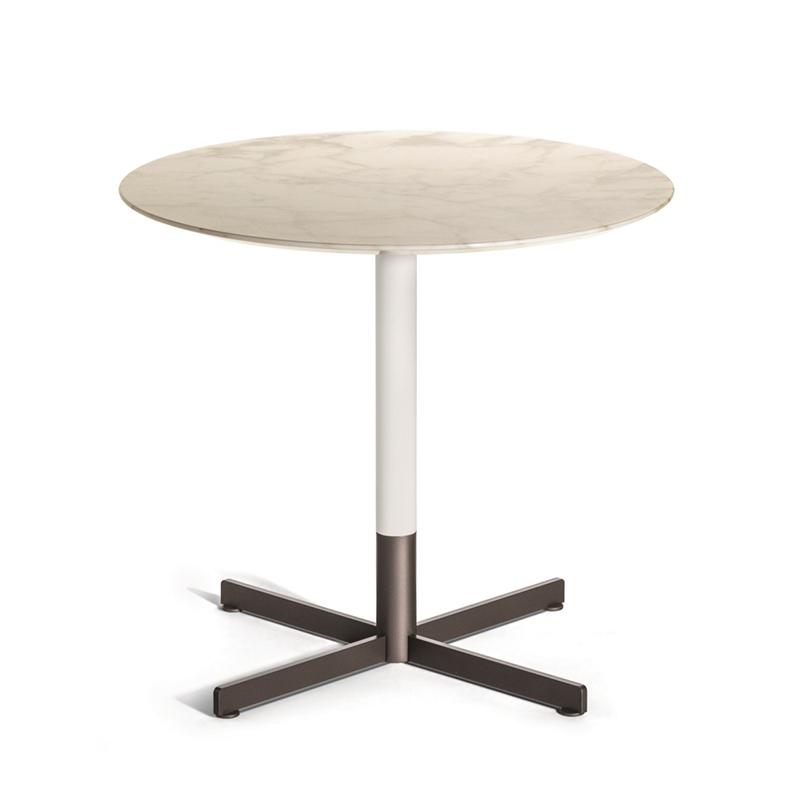 现代简约 轻奢不锈钢 客厅高低圆形 人造大理石 意式极简组合 茶几圆桌