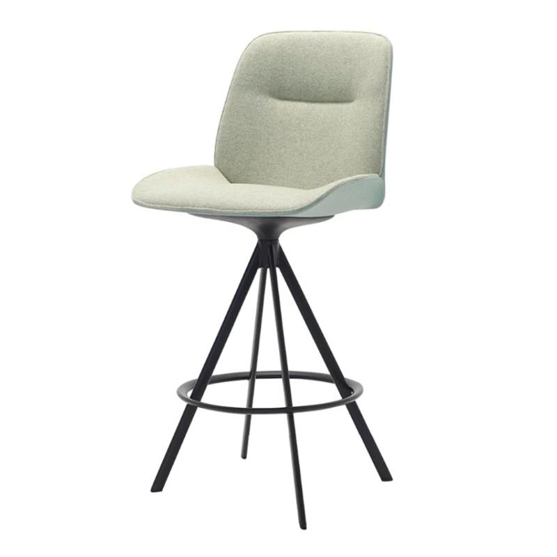 Andreu World 意式 Nuez系列 设计师创意设计 客厅餐厅咖啡店奶茶机 酒吧KTV 不锈钢椅子 高脚吧椅 酒吧椅